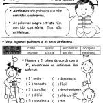 ATIVIDADES DE GRAMÁTICA – PORTUGUÊS