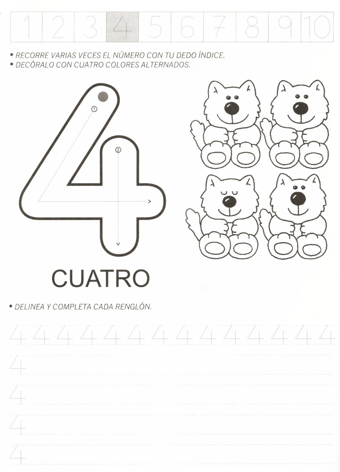Atividades Com Numero 4 Para Educacao Infantil