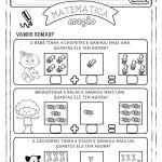 Atividades de matemática sobre problemas de soma para 1º ano