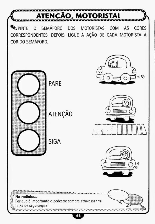 ATIVIDADES COM SINAIS DE TRÂNSITO
