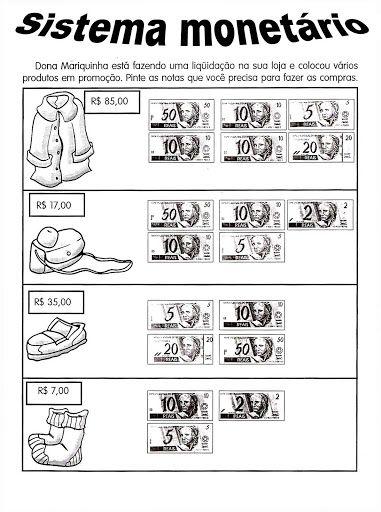 atividades de sistema monetario
