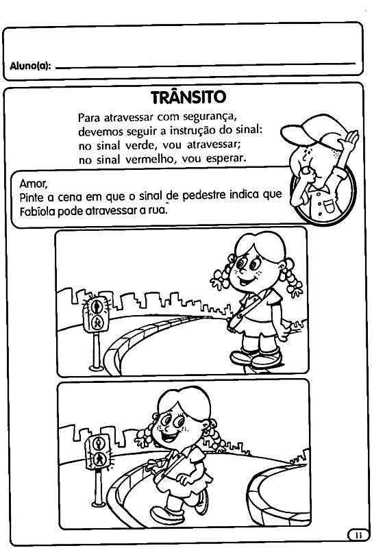 Atividades lucidas Sobre o Trânsito para Educação Infantil