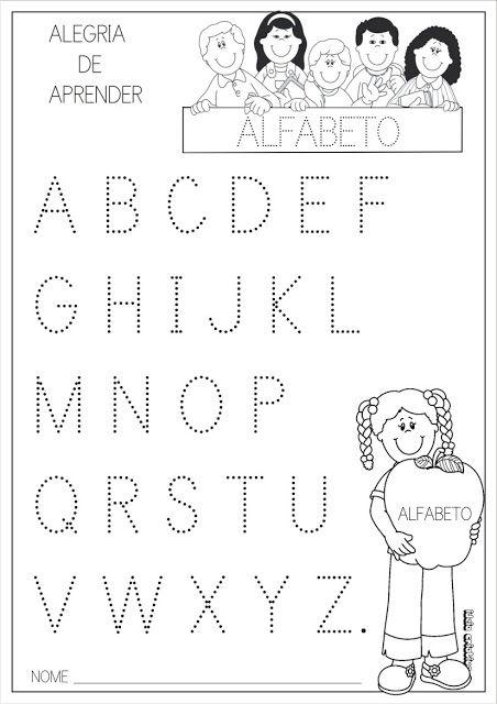 vogais pontilhadas para imprimir