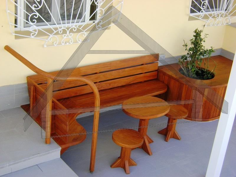 Terraço, pérgola e mobiliário de jardim,trilhos - AtiWood