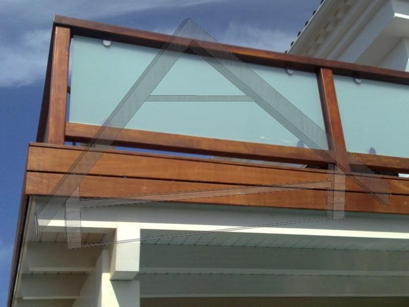 Geländer mit Glas - AtiWood