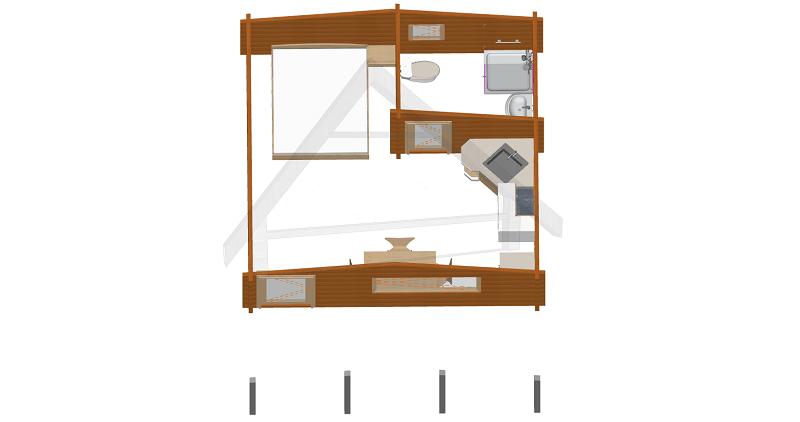 casa de madera prevista - AtiWood