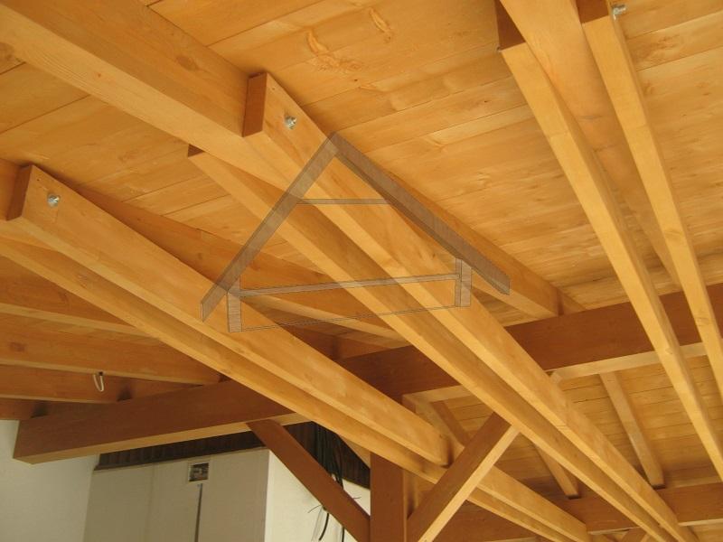 Vigas de madera en techo - AtiWood