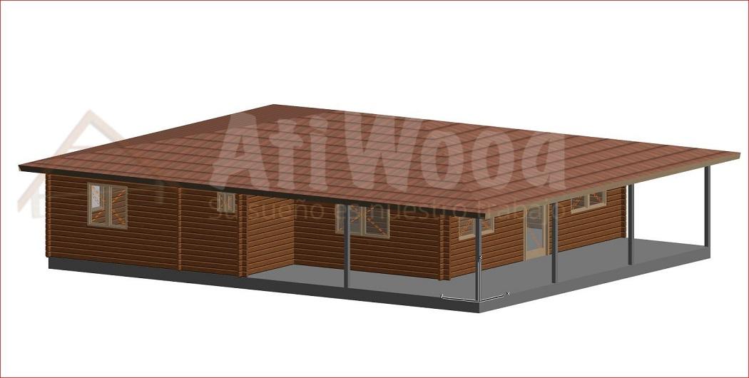 casa de madera 114m2 con terazza - AtiWood