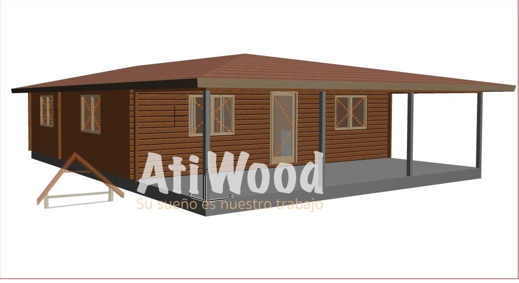 vista previa 113 m2 con porche - AtiWood