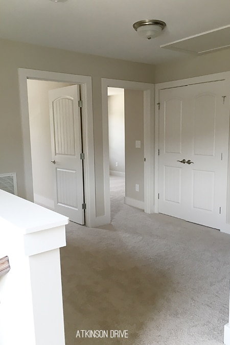 New Home: Family loft area that will soon house kids toys