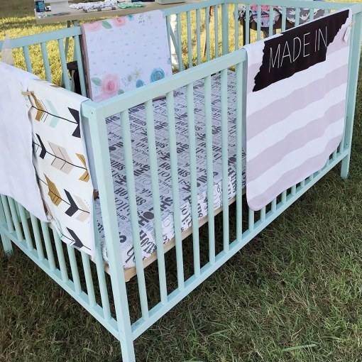 Custom Crib: Made special with water based paint that you choose!