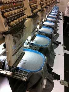 Hoodies on Embroidery Machine - Marshall Atkinson