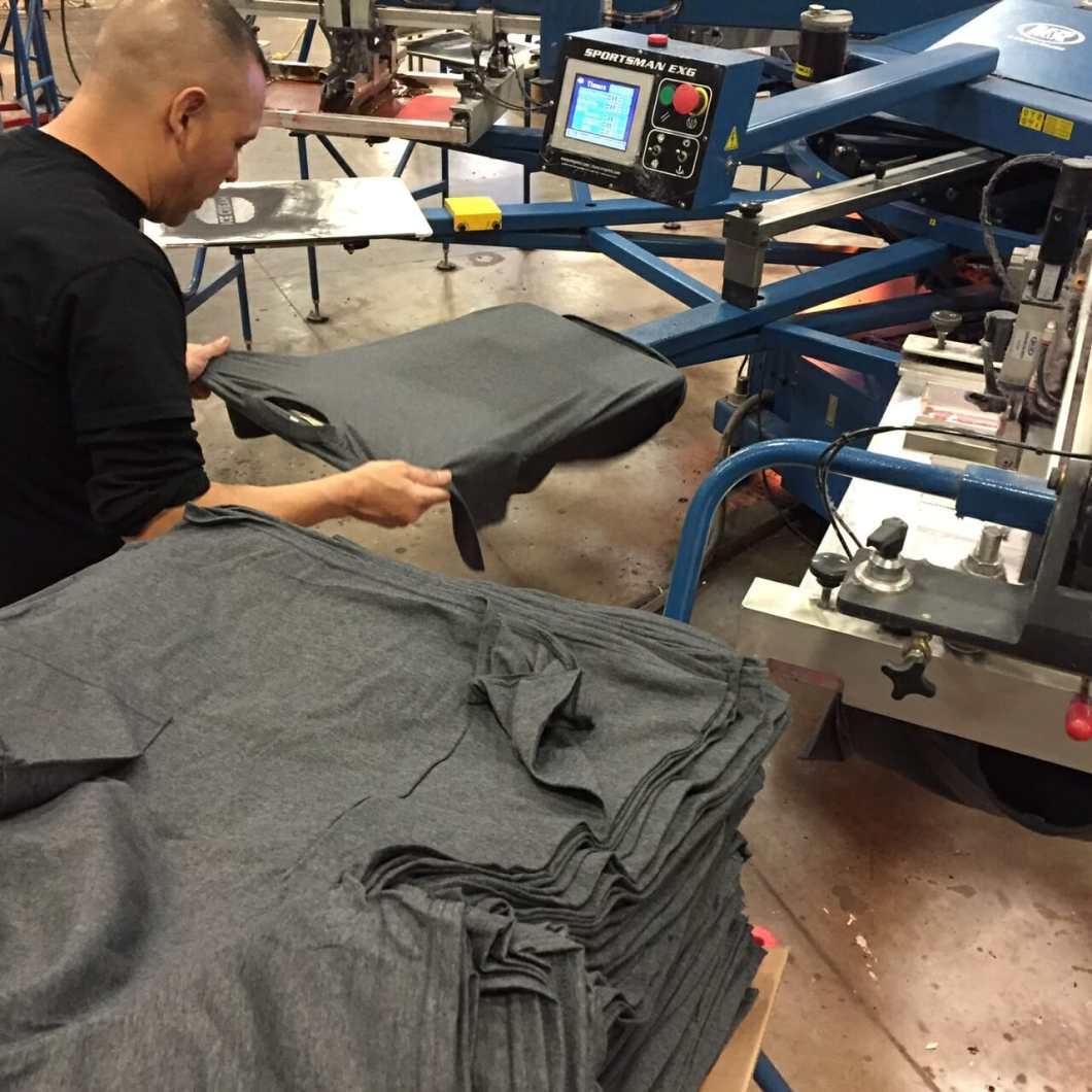 Screenprinting Grey Shirts on an Auto - Marshall Atkinson