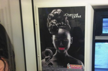 Dunkin Donts blackface poster in Thailand