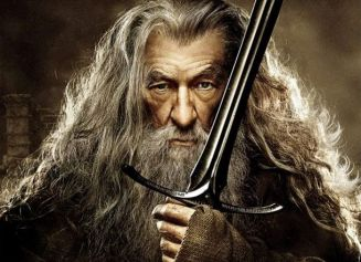 Ian McKellen as Gandalf the Grey - The Hobbit The Desolation Of Smaug poster