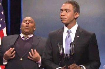 SNL spoofs Obama Selfie, fake sign language interpreter