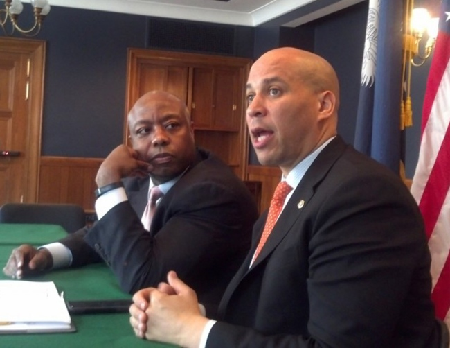 Tim Scott Cory Booker Atlanta Black Star