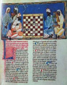 MOORISH NOBLES IN SPAIN. FROM THE CHESSBOOK OF ALPHONSO X