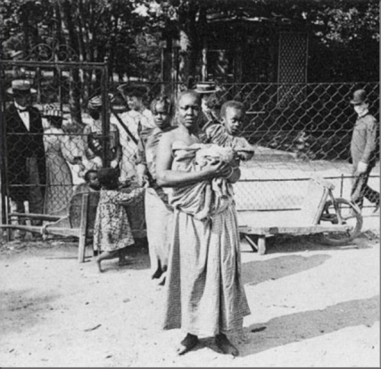 Image result for 13 Shameful Pictures of Europeans Placing African People in Human Zoos