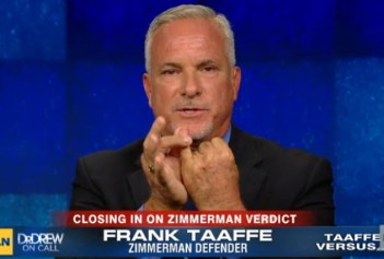 Frank Taaffe says Zimmerman was racist