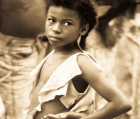 young girl during slavery