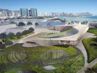 Obama Presidential Library rendering for Hawaii