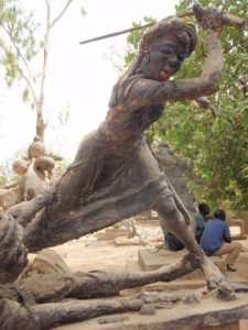 Queen Amina Sculpture