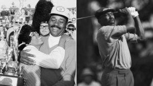 Pete Brown (left) and Calvin Peete were golf trailblazers.