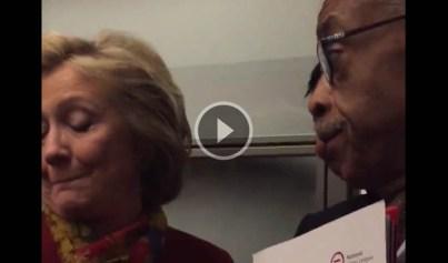 Hillary Clinton talking Black with Al Sharpton