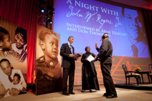 "Secretary Arne Duncan at ""A Night with John Rogers,"" a 2010 event by The HistoryMakers (US Department of Education)"