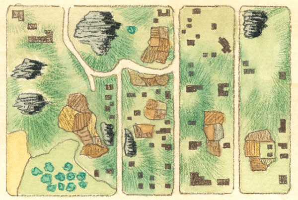 Map drawn by Egbert Viele showing the layout of Seneca Village circa 1856