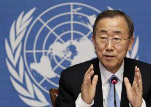 UN Secretary General Ban Ki-Moon (Via The Toronto Star)