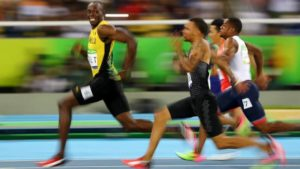 Usain Bolt in Olympic semifinals (Twitter)