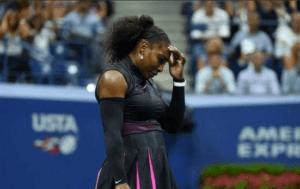 Serena Williams lost her no. 1 ranking at the U.S. Open Thursday (Twitter)