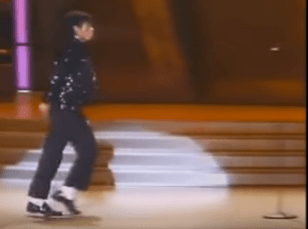 """During the Motown 25th anniversary special in 1983, Jackson stunned audiences by moonwalking across the stage during his """"Billie Jean"""" performance. (NBC)"""