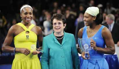 Billie Jean King, Venus Williams, Serena Williams