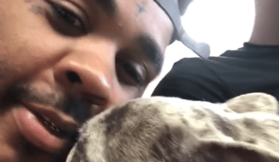 Kevin Gates Responds After He's Criticized for Kissing His Dog
