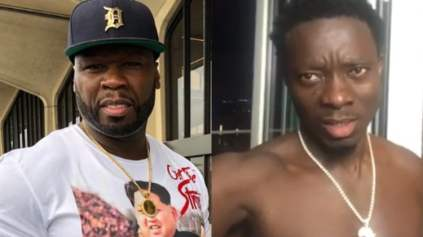 50 Cent Clowned Michael Blackson Over His Colorful Sneakers