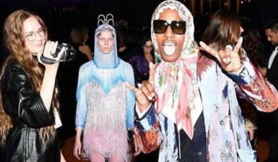 A$AP Rocky Gets Clowned For Wearing Gucci Head Scarf