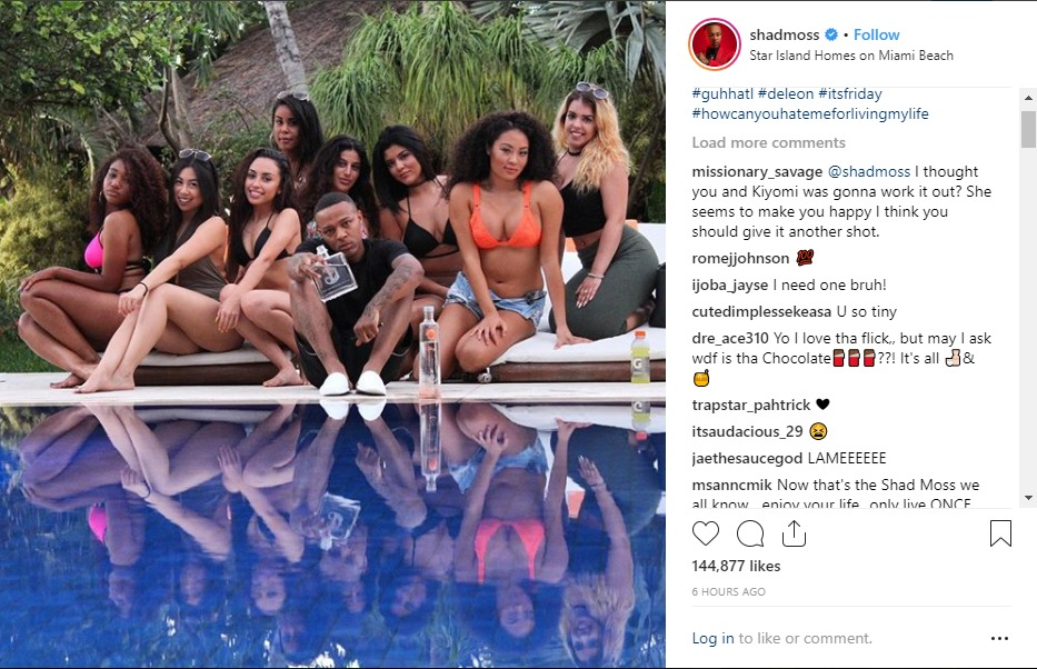 Marlon Wayans accused Bow Wow of lying after he posted a photo with a bunch of women