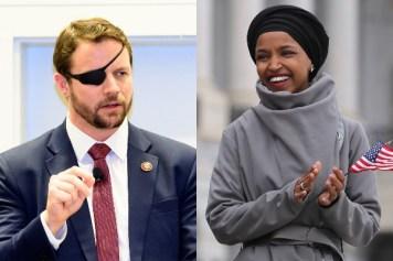 Reps. Dan Crenshaw and Ilhan Omar