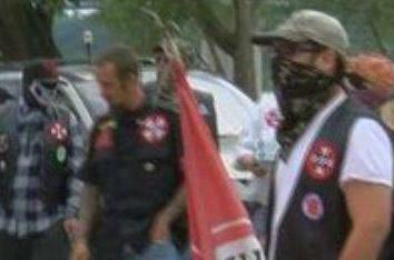 KKK protest