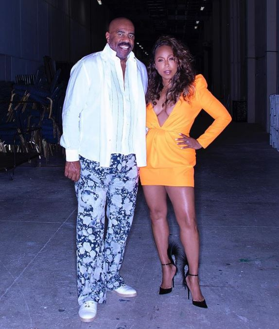 Comedian Steve Harvey and his wife Marjorie