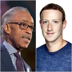 Al Sharpton and Mark Zuckerberg