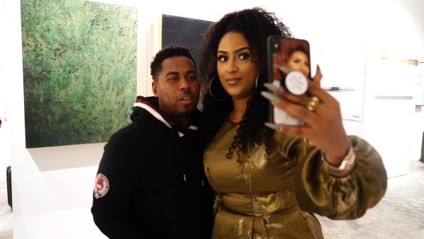 Bobby Valentino and Juliet Ibrahim pose for pic