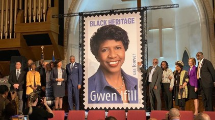 Gwen Ifill stamp dedication