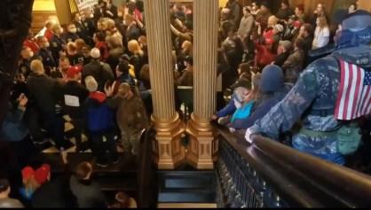 Michigan State Capitol protest