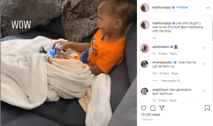 'Who Taught You This?': Lil Scrappy Leaves Fans In Stitches After 1-Year-Old Son Shows Off His Tech Savvy Skills