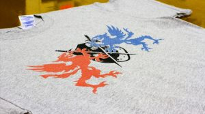 Dragons - Metallic Ink Screen Printing