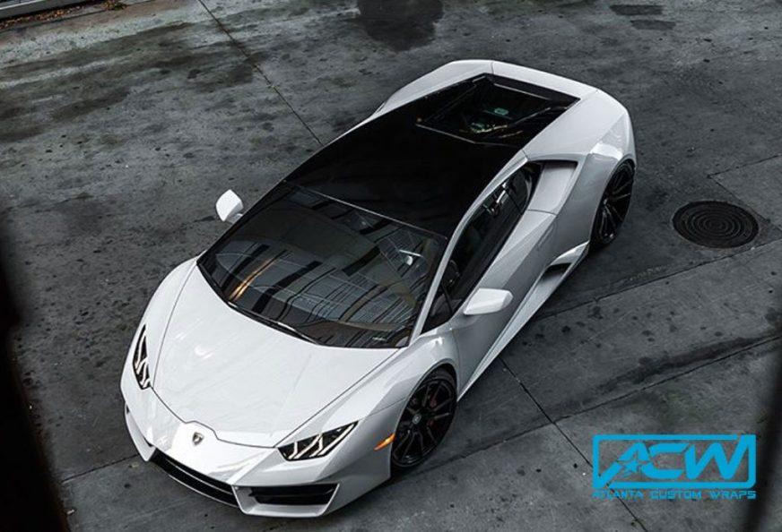 2017 Lamborghini Huracan accent wrap - Atlanta Custom Wraps